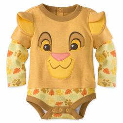 Disney Store Lion King Simba Baby Costume Outfit Set Months