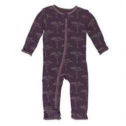 Kickee Pants Little Girls Print Coverall with Zipper - Fig A