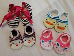 lot of 4 cute socks slippers 6