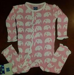 Kickee Pants Lotus Elephant Toddler Girl Ruffle Coverall 12-