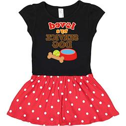inktastic - Loved by A Infant Dress 12 Months Black & Red wi