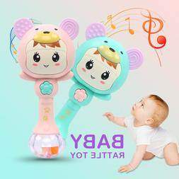 Lovely Baby Hand Bells Toys Puzzle Music And Light Shaking R