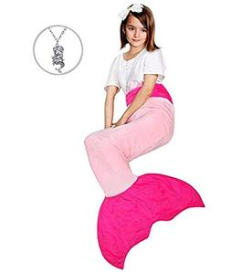 Maidream Mermaid Tail Blanket Upgraded Double-Layered Soft C