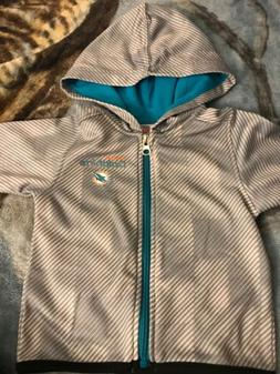 Miami Dolphins Infant Hooded Jacket 12 Months NWOT