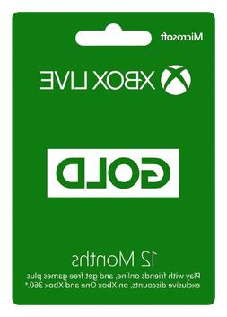 Microsoft Xbox Live 1 Year  Gold Membership Subscription Car