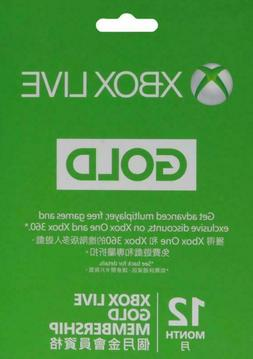 Microsoft Xbox Live 12 Month Gold Membership Card Instructio