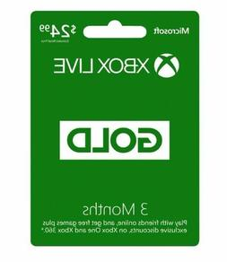 Microsoft Xbox LIVE 3 Month Gold Membership for Xbox 360 / X