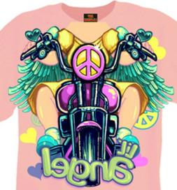 Motorcycle Biker Angel Girl T-shirt New Short Sleeve 12M 18M