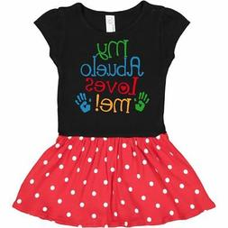 Inktastic My Abuelo Loves Me Outfit Infant Dress Grandkids B