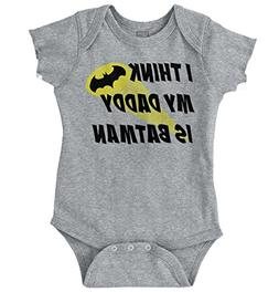 Brisco Brands My Daddy is Bat Cute Fathers Day Comic Hero Ro