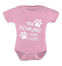 Tstars My Siblings Have Tails Funny One-Piece Infant Baby Bo