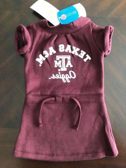 NCAA Texas A&M Aggies Girl Fleece Dress 12-18 months  - NEW