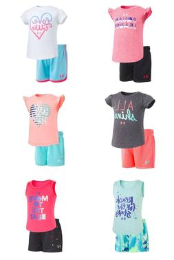 New Under Armour Baby and Toddler Girls Shirt and Shorts Set
