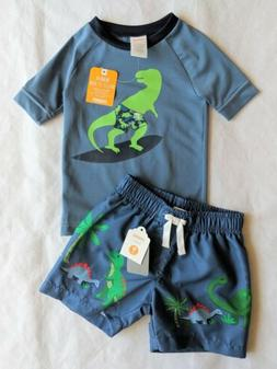 Sizes 6 M thru 5T Orange Crazy 8 New Baby Toddler Rash Guard Swim Top UPF 50
