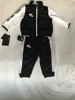 NEW Nike Baby Boy Size 12 Months Outfit Set Track Suit Black