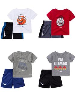 New Nike Baby and Toddler Boys Graphic Tee & Shorts Set Choo