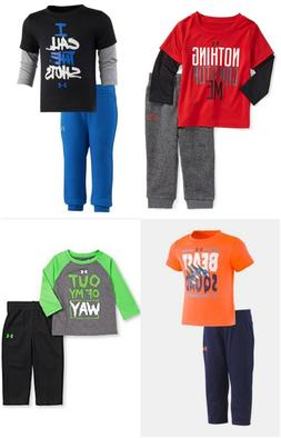 New Under Armour Baby Boys' Tee and Pants Set 12M, 18M, and