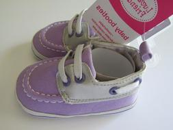 New Luvable Friends Baby Girl Slip-On Purple Shoe