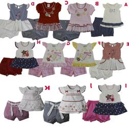 New Baby Girls Outfits Clothes 2 Pieces Shirt Shorts Size 3