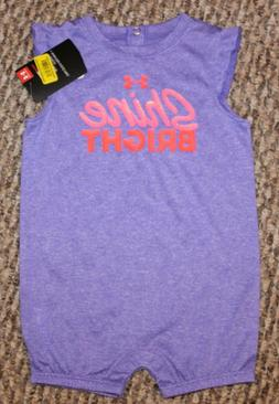 New! Baby Girls Under Armour Summer Outfit  Size 6-9, 9-12,