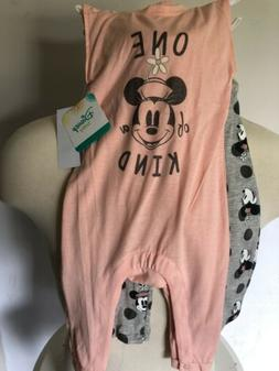 NEW Disney Baby Minnie Mouse SZ 12 MONTHS Girl's Romper NWT