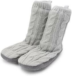 NEW Goldbug Baby Size 6-12 Months Cozy Gray Knit Slippers So