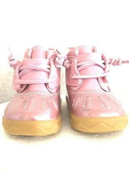New Born Girls Pink Sperry shoes size 4 9-12 months