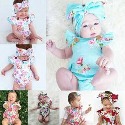 New-born Infant Baby Girl Clothes Jumpsuit Romper Bodysuit H
