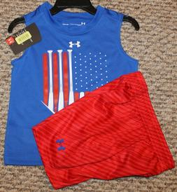 New! Boys Under Armour Summer Outfit  Size 12, 18, 24 mo