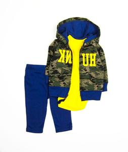 New Carter's Baby Boys Hoodie Jacket, Bodysuit and Pants Siz