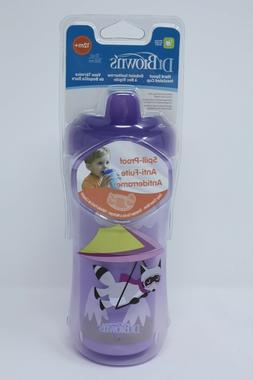 NEW Dr Brown Hard Spout Insulated sippy cup Purple 12+ month