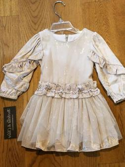 "New fall Isobella & Chloe ""Snow Queen"" sequin tutu dress,12"