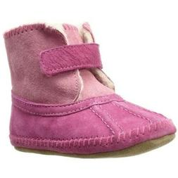 New Robeez Galway Pink Cozie Boots 6-12 Months