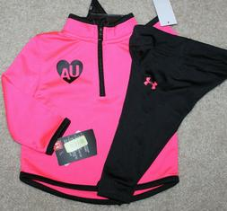 New! Girls Under Armour Track Outfit - Sz 12, 18, 24 mo