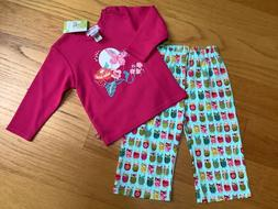 New Zutano infant girl pants outfit size 12 months