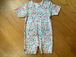 New Zutano infant girl short outfit size 12 months or 6 mont