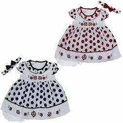 new newborn infant baby girl dress 3 piece set outfit size 3