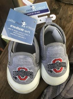 NEW OHIO STATE BABY SHOES SIZE 2 PRE WALKERS 6-12 MONTHS BAB