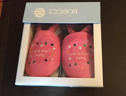 New ROBEEZ Soft Soles Pink Leather Baby Shoes Size 12-18 mon