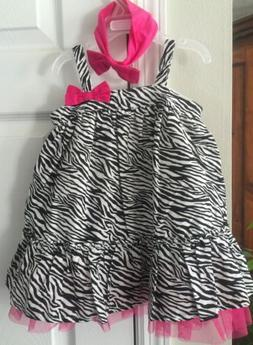 New- The Children's Place 12-18 Months Zebra Print Tulle Dre