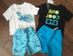 New- The Children's Place Boys 12-18 Months Shorts And Shirt