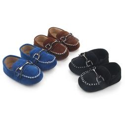 Newborn Baby Boy First Walkers Kid Handsome Metal Hasp Shoes