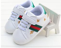 Newborn Baby Boy Girl Crib Shoes Toddler White Sneakers Pre