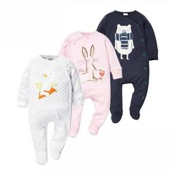 Newborn Baby Boys Babies Girls Clothes Footed Jumpsuits Infa