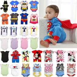 Newborn Baby Boys Infant Kids Superhero Rompers Playsuit Out