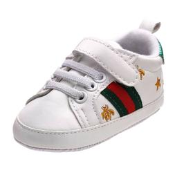 Newborn Baby Crib Shoes Faux Leather Infant Toddler Boy Girl