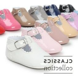 Newborn Baby Girl Bling Crib Pram Shoes SPANISH Mary Jane Fi