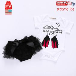 Newborn Baby Girl Romper Bodysuit+Tutu Shorts Pants Sunsuit