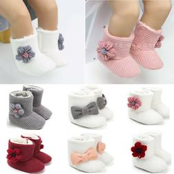 Newborn Baby Girl Winter Cotton Diamonds Shoes Toddler First