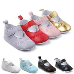 Newborn Baby Girls Crib Pram Shoes Kids Soft Sole Anti Slip